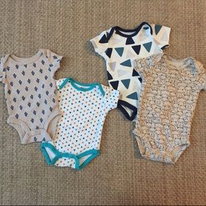 Lot of 4 Baby Clothes, sizes 0-3M, 3M & 3-6M